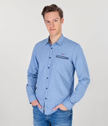 Рубашка Slim с длинными рукавами Lee Cooper CORNEL 5147 BLUE