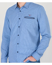 Рубашка Slim с длинным рукавом Lee Cooper CORNEL 5147 BLUE