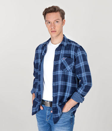 Рубашка Regular в клетку с длинными рукавами Lee Cooper CONNY 5167 NAVY