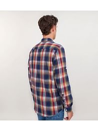 Рубашка Regular в клетку с длинными рукавами Lee Cooper REMO 5161 YELLOW