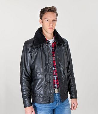 Куртка кожаная Lee Cooper EDWARD LEATHER BLACK