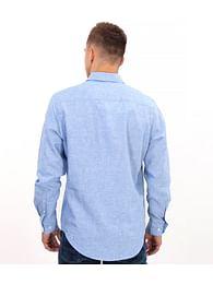 Рубашка льняная Slim с хлопком Lee Cooper RUFUS 1062 BLUE
