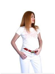 Майка с рисунком и логотипом Lee Cooper FLOWERS OFF WHITE 8002