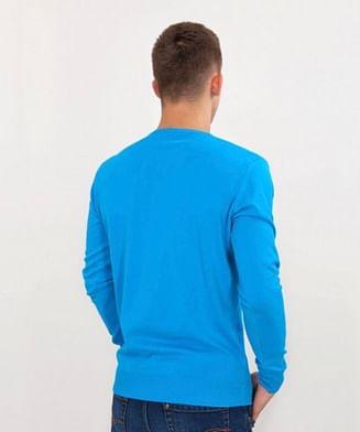 Хлопковый свитер Lee Cooper ADAM COTTON AQUATIC BLUE