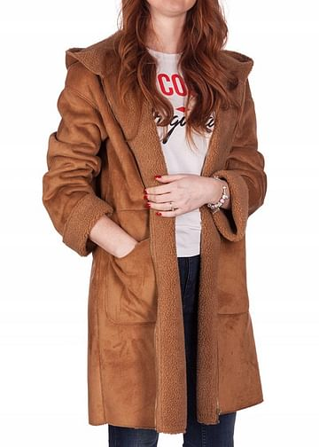 Пальто с капюшоном Lee Cooper IVY 1801 CAMEL