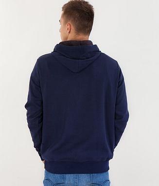 Толстовка с капюшоном Lee Cooper JUSTIN 8400 NIGHT BLUE/GREY