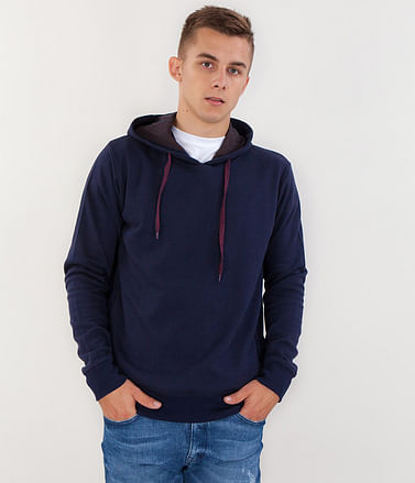 Толстовка с капюшоном Lee Cooper JUSTIN 8400 NIGHT BLUE/GREY MELANGE