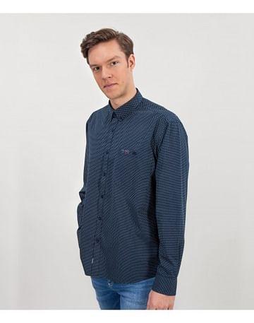 Рубашка Comfort с длинными рукавами Lee Cooper NEW TENBY MP 07 NAVY