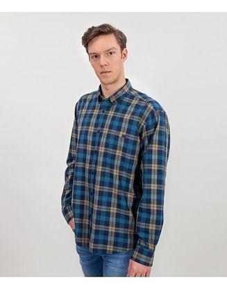 Рубашка Comfort в клетку Lee Cooper NEW TENBY ZK24 NAVY