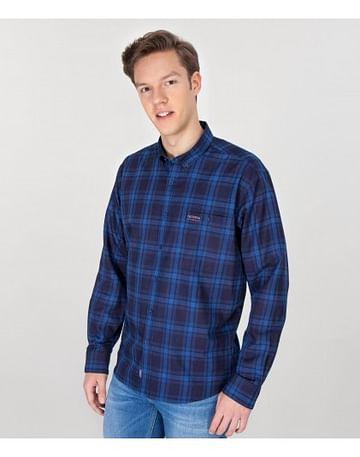 Рубашка Comfort в клетку Lee Cooper NEW TENBY ZK25 NAVY