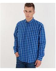 Рубашка Comfort в мелкую клетку Lee Cooper NEW TENBY ZK52 BLUE