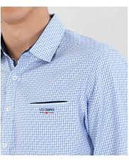 Рубашка Slim с длинным рукавом Lee Cooper MOKER 1400 BLUE