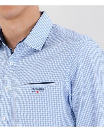 Рубашка Slim с длинными рукавами Lee Cooper MOKER 1400 BLUE