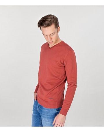 Хлопковый свитер Lee Cooper ADAM COTTON DIRTY RED