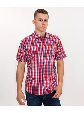 Рубашка Regular в клетку с короткими рукавами Lee Cooper WIGOR2 2000 RED