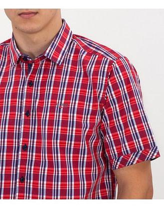 Рубашка Regular в клетку Lee Cooper WIGOR2 2000 RED