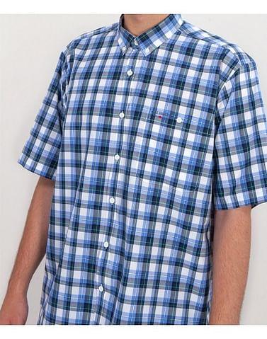 Рубашка Comfort в клетку Lee Cooper NEW TENBY2 KL32 BLUE