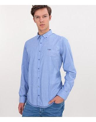 Рубашка Comfort с длинным рукавом Lee Cooper NEW TENBY PL39 BLUE