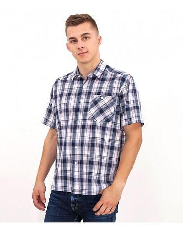 Рубашка Regular в клетку с короткими рукавами Lee Cooper REVIO2 KL12 NAVY