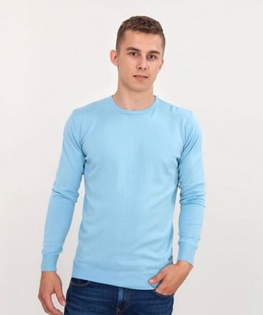 Приталенный свитер Lee Cooper ANDY COTTON OXFORD BLUE
