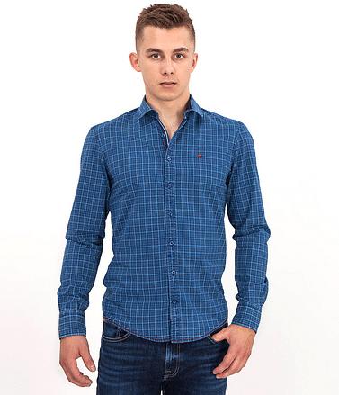 Рубашка Slim с длинными рукавами Lee Cooper WILLY 2910 BLUE