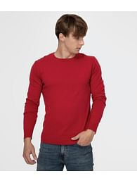 Свитер приталенный Lee Cooper ANDY COTTON RED