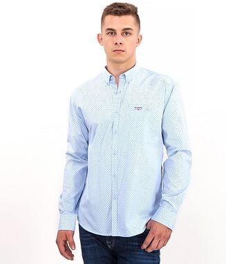Рубашка Comfort с микропринтом Lee Cooper NEW TENBY PM61 BLUE