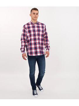 Рубашка Comfort в клетку Lee Cooper NEW TENBY KL01 RED