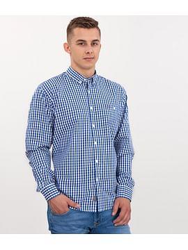 Рубашка Comfort в клетку Lee Cooper NEW TENBY KL34 BLUE