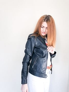 Куртка кожаная Lee Cooper STELLA LEATHER NAVY
