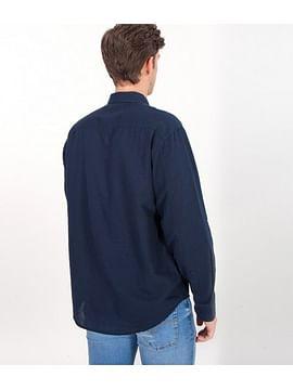 Рубашка Comfort с добавлением льна Lee Cooper DALION 2030 NAVY