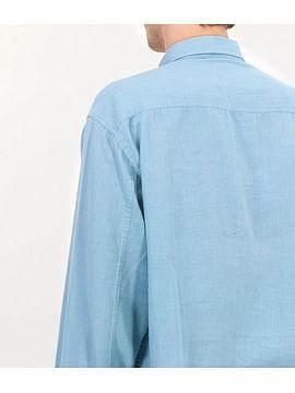 Рубашка Comfort со льном Lee Cooper DALION 2030 OXFORD BLUE