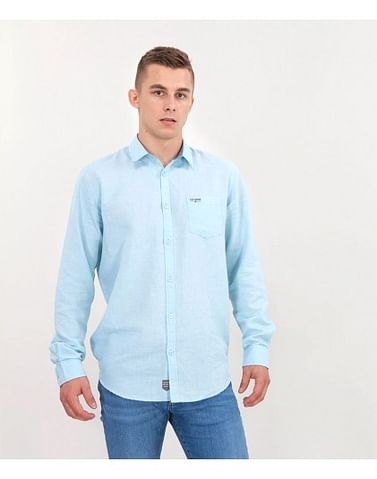 Рубашка Regular с добавлением льна Lee Cooper EGON 2030 MORNING BLUE