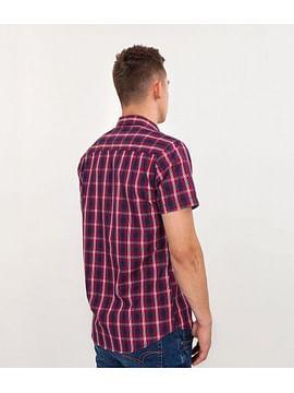 Рубашка Slim в клетку с короткими рукавами Lee Cooper LEON2 5248 RED