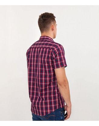 Рубашка Slim в клетку Lee Cooper LEON2 5248 RED