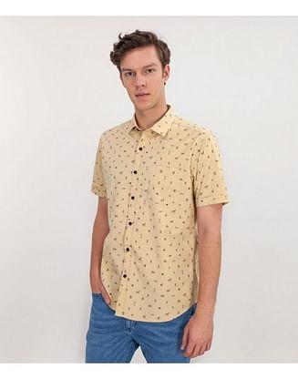 Рубашка Regular с коротким рукавом Lee Cooper LEONARD2 5000 YELLOW
