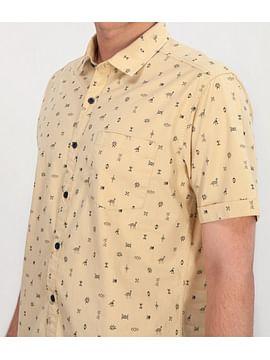 Рубашка Regular с короткими рукавами Lee Cooper LEONARD2 5000 YELLOW