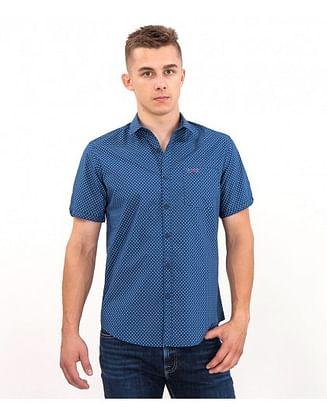 Рубашка Slim с коротким рукавом Lee Cooper LARYS2 5274 BLUE