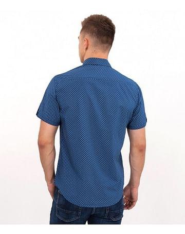 Рубашка Slim с короткими рукавами Lee Cooper LARYS2 5274 BLUE