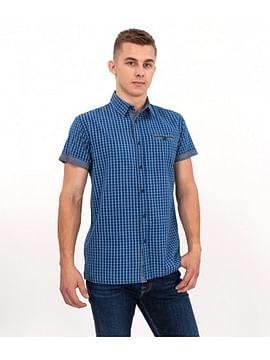 Рубашка Slim в клетку Lee Cooper LAMBERT2 2004 BLUE