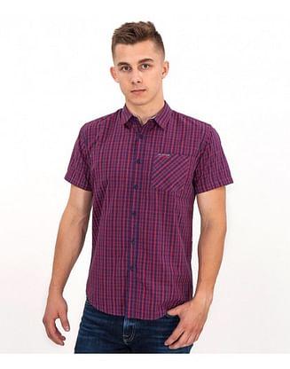 Рубашка Slim с коротким рукавом Lee Cooper LARGUS2 5240 RED