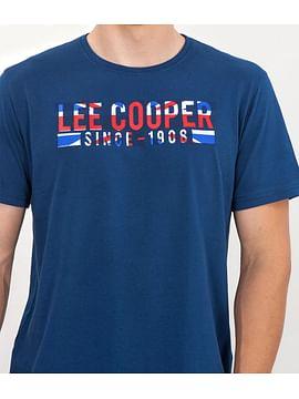 Майка с принтом спереди Lee Cooper STEVEN 7000 BLUE