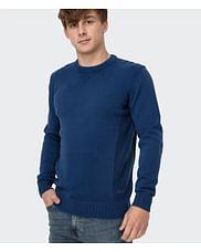 Хлопковый свитер с полукруглым вырезом Lee Cooper BILL COTTON BLUE