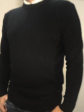 Хлопковый свитер с круглым горлом Lee Cooper BILL COTTON BLACK
