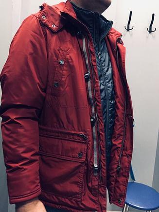 Куртка со съёмным капюшоном Lee Cooper BILLY 3201 DARK RED