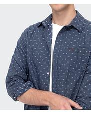Рубашка Regular с микропринтом Lee Cooper RAUL 2077 BLUE