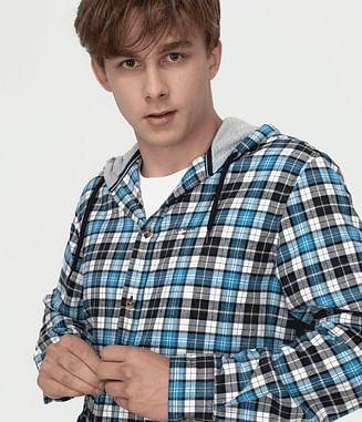 Рубашка Regular с капюшоном Lee Cooper RENIER 3124 BLUE