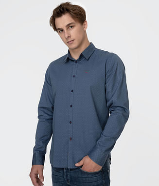 Рубашка Slim с длинным рукавом Lee Cooper JADE 2231 BLUE
