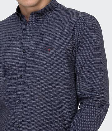 Рубашка Slim с микропринтом Lee Cooper JAGER 2790 NAVY