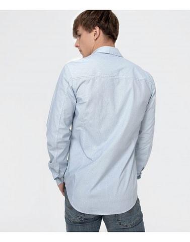 Рубашка Slim с микропринтом Lee Cooper DANIELS PM56 BLUE